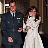 Kate Middleton was there to toast Prince William when he graduated from the Royal Air Force on April 11, 2008.