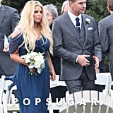 Jessica Simpson acted as a bridesmaid for her friend Lauren Auslander's wedding in Rhode Island.