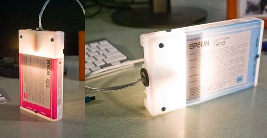 Ink Cartridge Desk Lamps