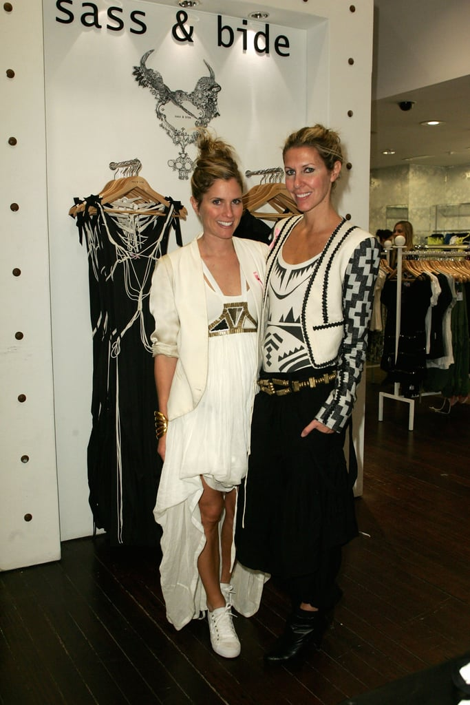 Sarah-Jane Clarke and Heidi Middleton at the 2008 David Jones National Breast Cancer Foundation Day