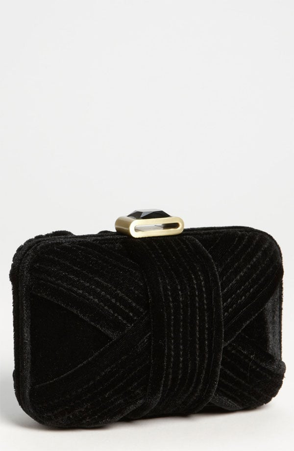 Nothing feels more seasonal for party season than a velvet clutch like this Glint Minaudiere Box Clutch  ($78).