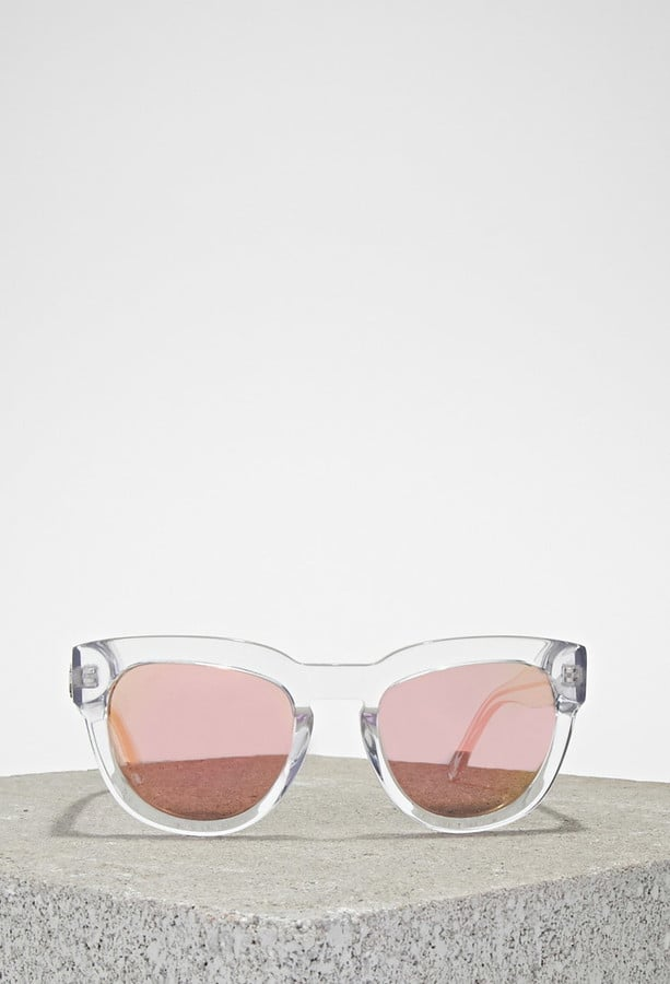 Forever 21 married to the mob kiki crystal clear sunglasses ($75)