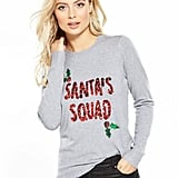 Very Santa's Squad Embellished Christmas Jumper