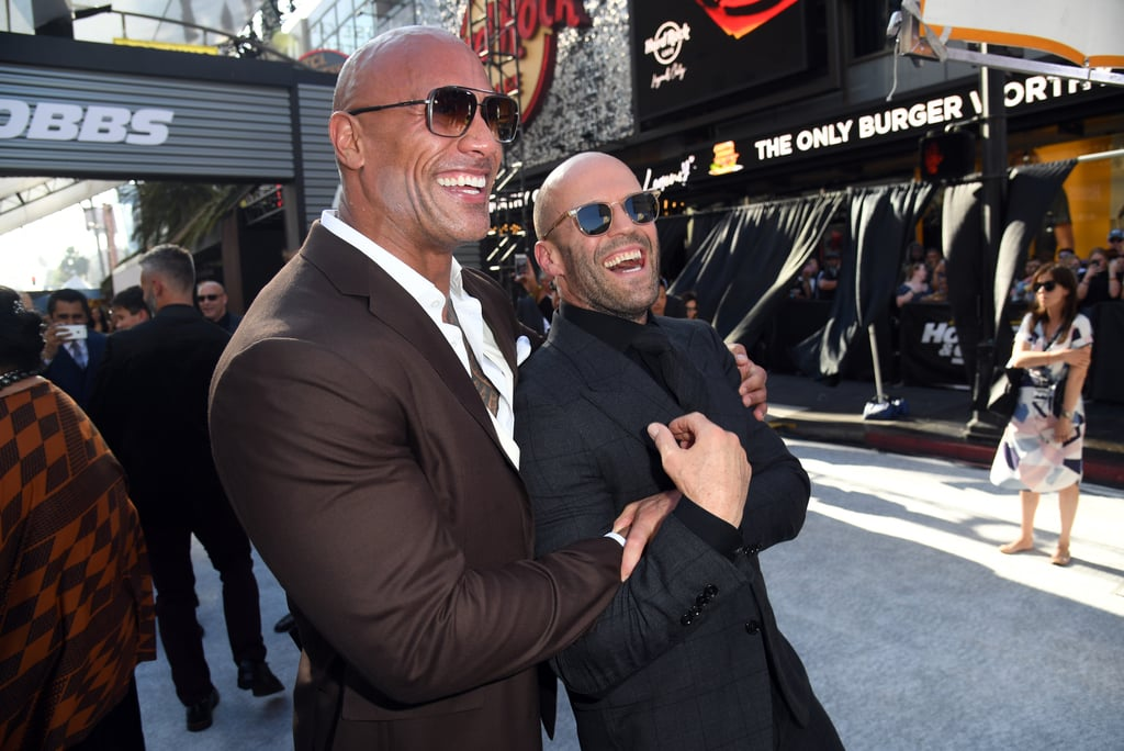 "Dwayne Johnson and Jason Statham will be gracing our screens again in the upcoming Fast and Furious spinoff, Hobbs & Shaw, after starring together in 2017's Furious 7. Even though Dwayne and Jason's characters don't exactly get along in the film, they actually have quite the cute bromance in real life. In addition to sharing hugs and smiles during public outings, Dwayne and Jason recently opened up about their friendship in an interview with Entertainment Weekly. ""I think me and Dwayne share a very similar sense of humor,"" Jason said. ""The only difference in us is the amount of weight he pushes when he's doing a bench press.""  Dwayne also joked about their friendship while speaking with Extra at the Hobbs and Shaw premiere in LA. ""This relationship that I have with Jason is a lot of fun,"" he joked. ""With a guy like that . . . his ego is so big, like his head, you just got to placate the star."" As we wait for Hobbs & Shaw to hit theaters on Aug. 2, see some of Dwayne and Jason's best moments ahead! Related: How Rich Is Dwayne Johnson? Really, Really Rich"