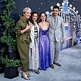Emma Thompson, Michelle Yeoh, Emilia Clarke, and Henry Golding at the Last Christmas Premiere