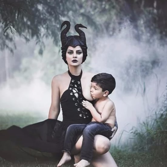 Mom Has Maleficent-Themed Breastfeeding Photo Shoot