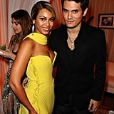 Beyoncé Knowles and John Mayer snapped a photo during a 2008 Grammy afterparty held in Beverly Hills.
