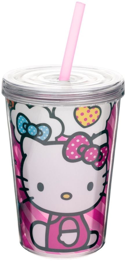 Hello Kitty Double Wall Tumbler with Straw ($10)