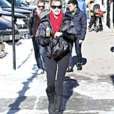 Melanie Griffith showed off her stems in Aspen on Wednesday.