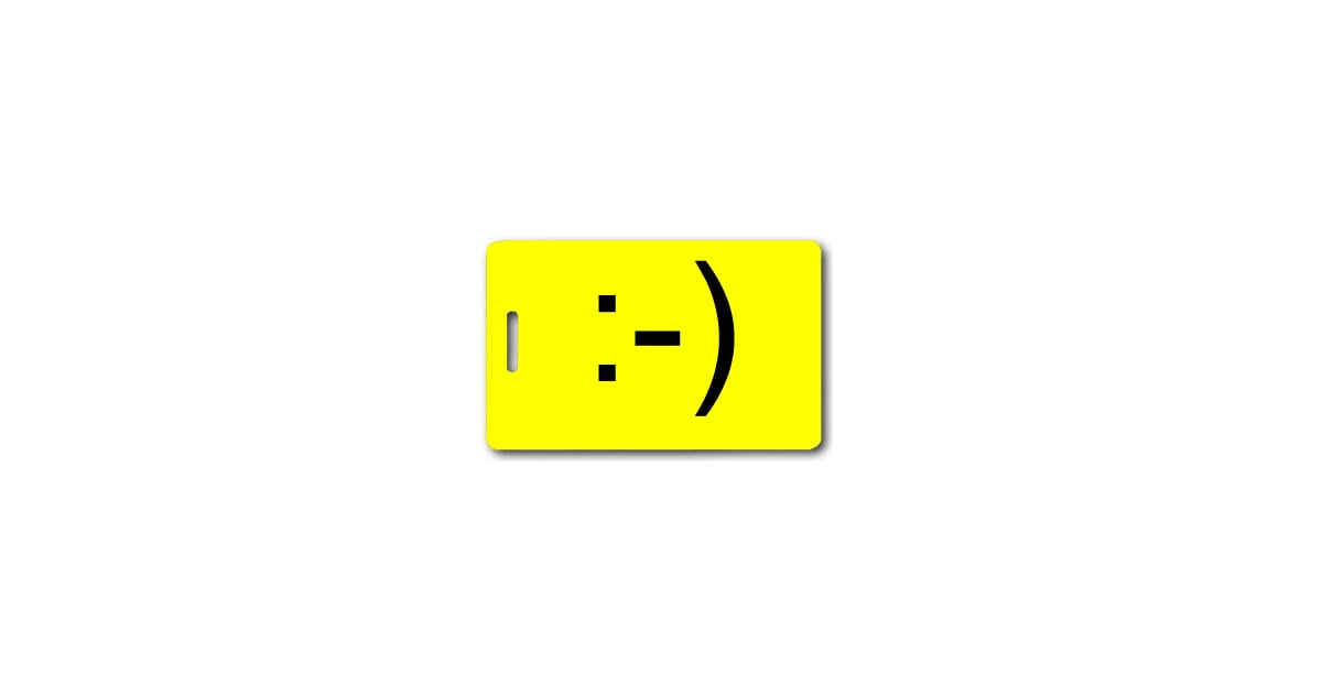 Emoticon Smiley Face Luggage Tag 7 Luggage Tags For
