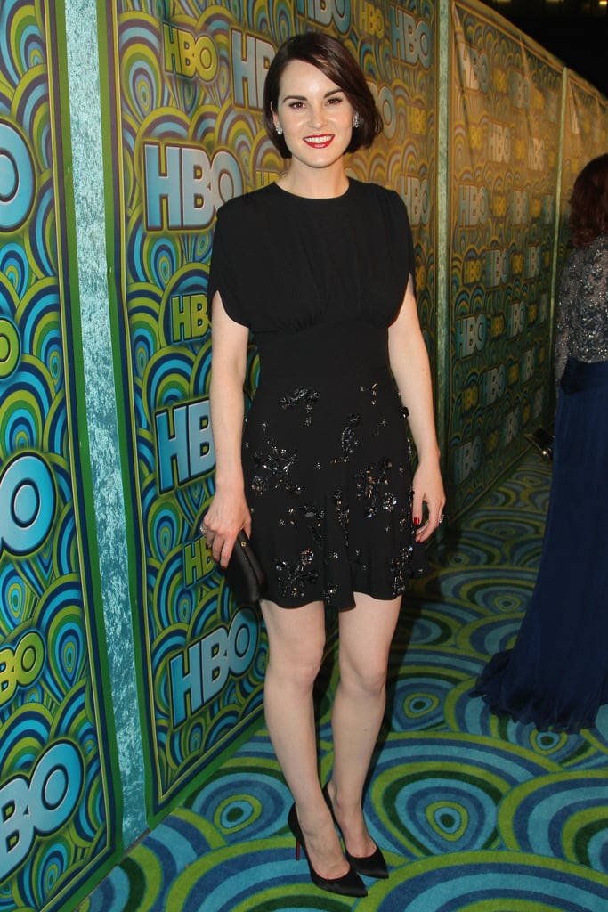 Michelle Dockery wore black at the 2013 HBO Emmys after party.