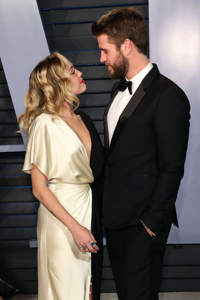 Miley and Liam couldn't help but to gaze into each other's eyes at the March 2018 Vanity Fair Oscar afterparty.