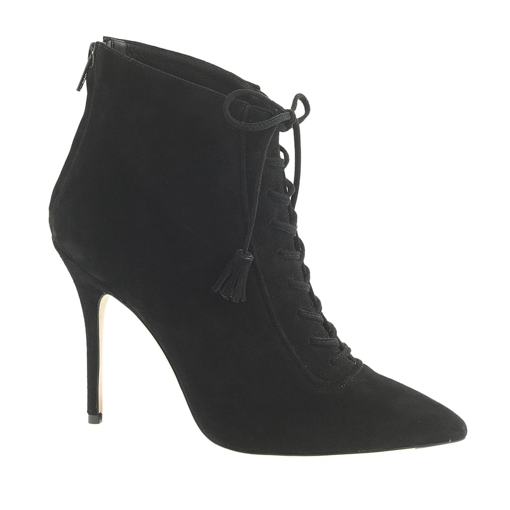 J.Crew Suede Lace-Up Booties