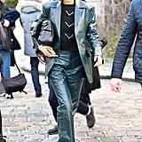 Bella Hadid's Street Style at Paris Fashion Week