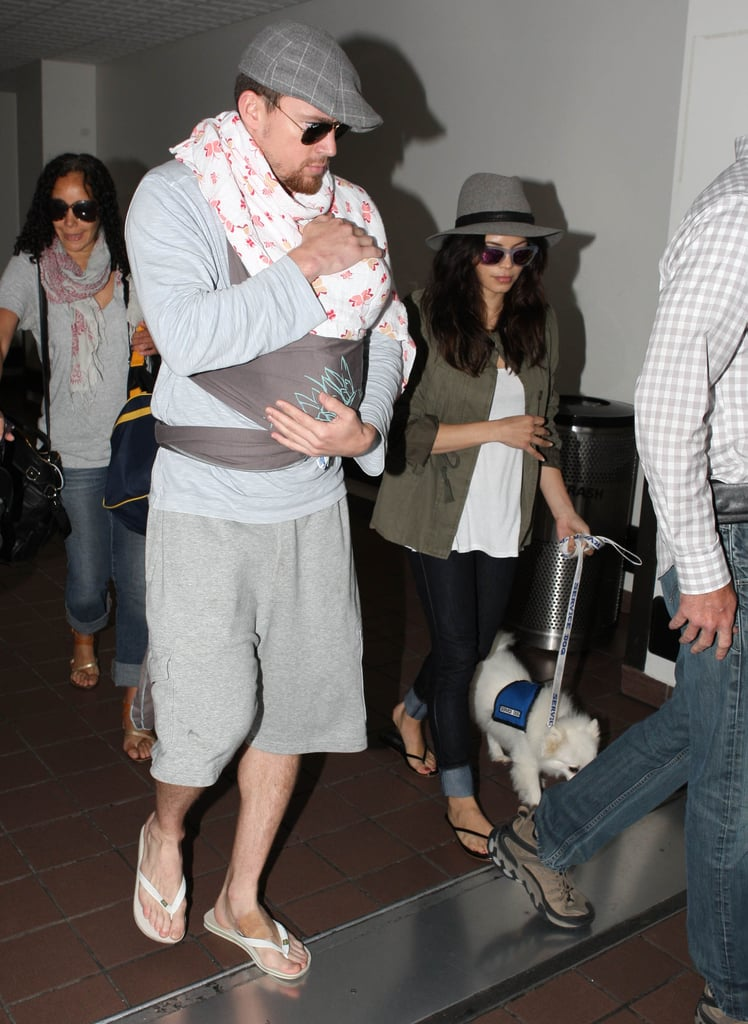 Channing Tatum and Jenna Dewan brought baby Everly along as they traveled through LAX.