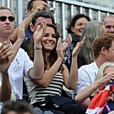 Prince William, Kate Middleton, and Prince Harry cheered on cousin Zara Phillips.