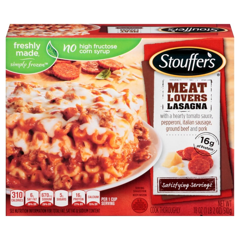 Stouffer's Meat Lovers Lasagna ($3)