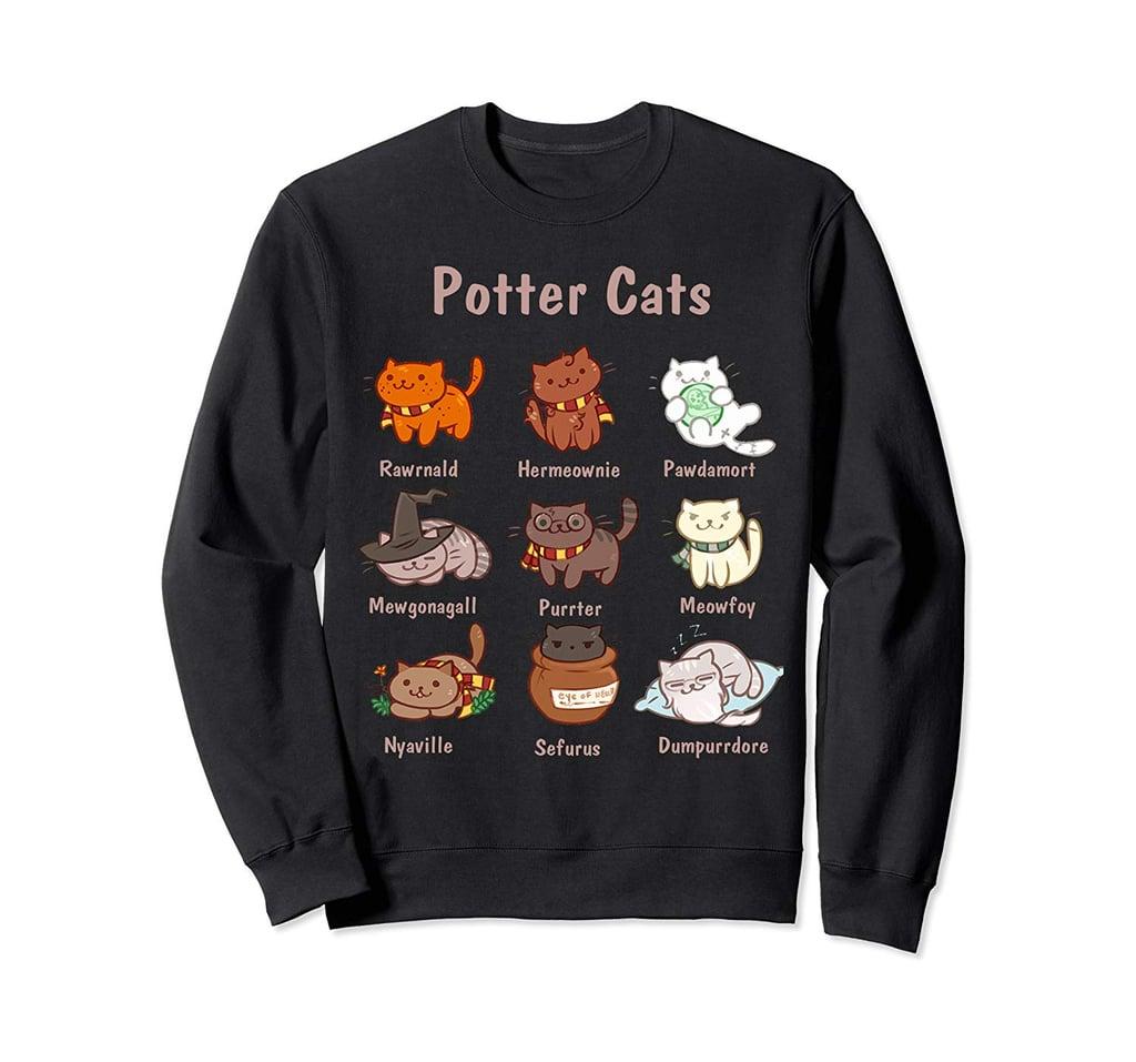Potter Cats Harry Pawter Sweatshirt
