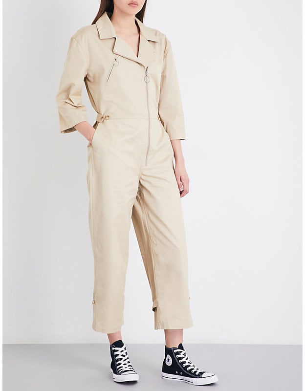 Our Pick: Frame Cropped High-Rise Cotton Twill Jumpsuit | Clothes to ...