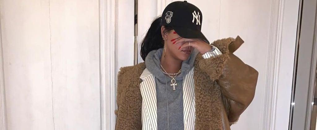 Rihanna Wears Her Oversize Shearling Fenty Coat 2 Ways