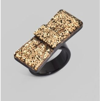 Fab Finger Discount: Marc by Marc Jacobs Bow Glitter Ring