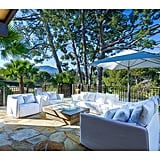 With Malibu's amazing weather, the backyard terrace would be the perfect space for outdoor parties.