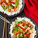 Chicken, Broccoli, Bell Pepper, and Snap Pea Stir-Fry