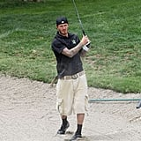Photos of David Beckham Playing Golf
