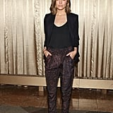 Rose Byrne posed at the You Can't Take It With You Broadway preview in NYC on Wednesday.