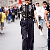 Accentuate your waist even more when you follow Olivia Palermo's lead and add a belt.