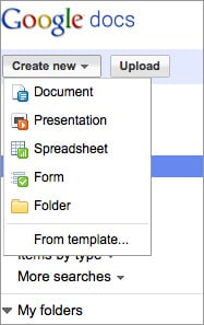 New Google Docs Features Cloud Storage and Folder Sharing