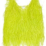 We're over the moon for this bright, bold lime tank.  Oscar de la Renta Feathered Silk Top ($2,250)