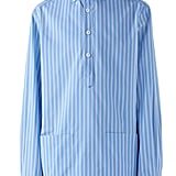Gucci Oversize Stripe Woven Pullover Shirt