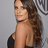 Lea Michele at the 2018 Golden Globes InStyle Party