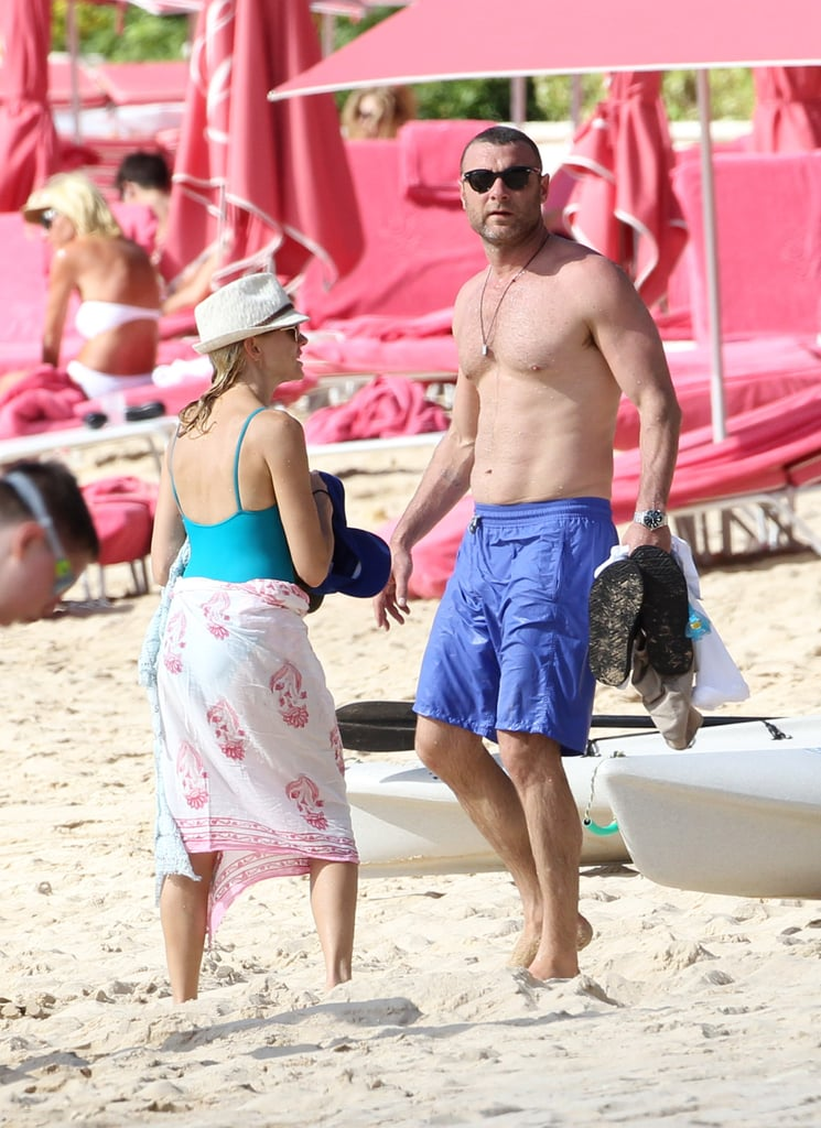 Naomi Watts and Liev Schreiber showed off their beach bodies in Barbados.