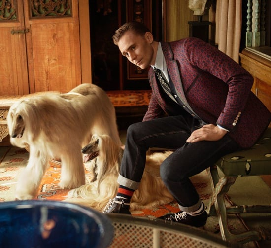 Tom Hiddleston for Gucci's Cruise ready-to-wear collection