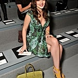 Leighton Meester went to NYFW.