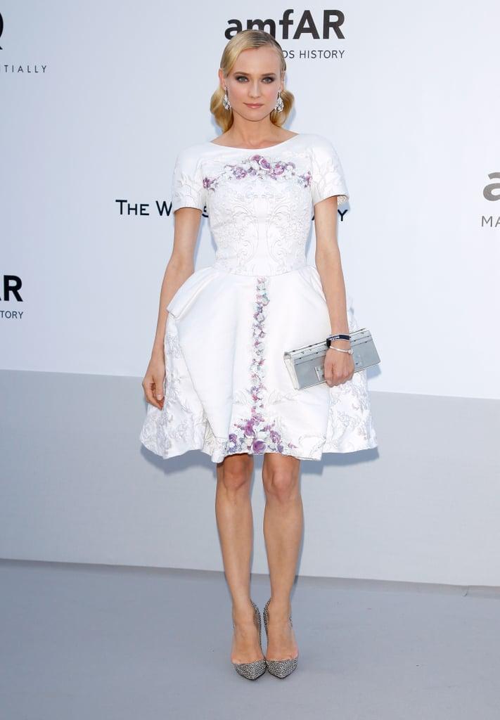 Diane Kruger Wearing Chanel at the amFAR Gala in 2012