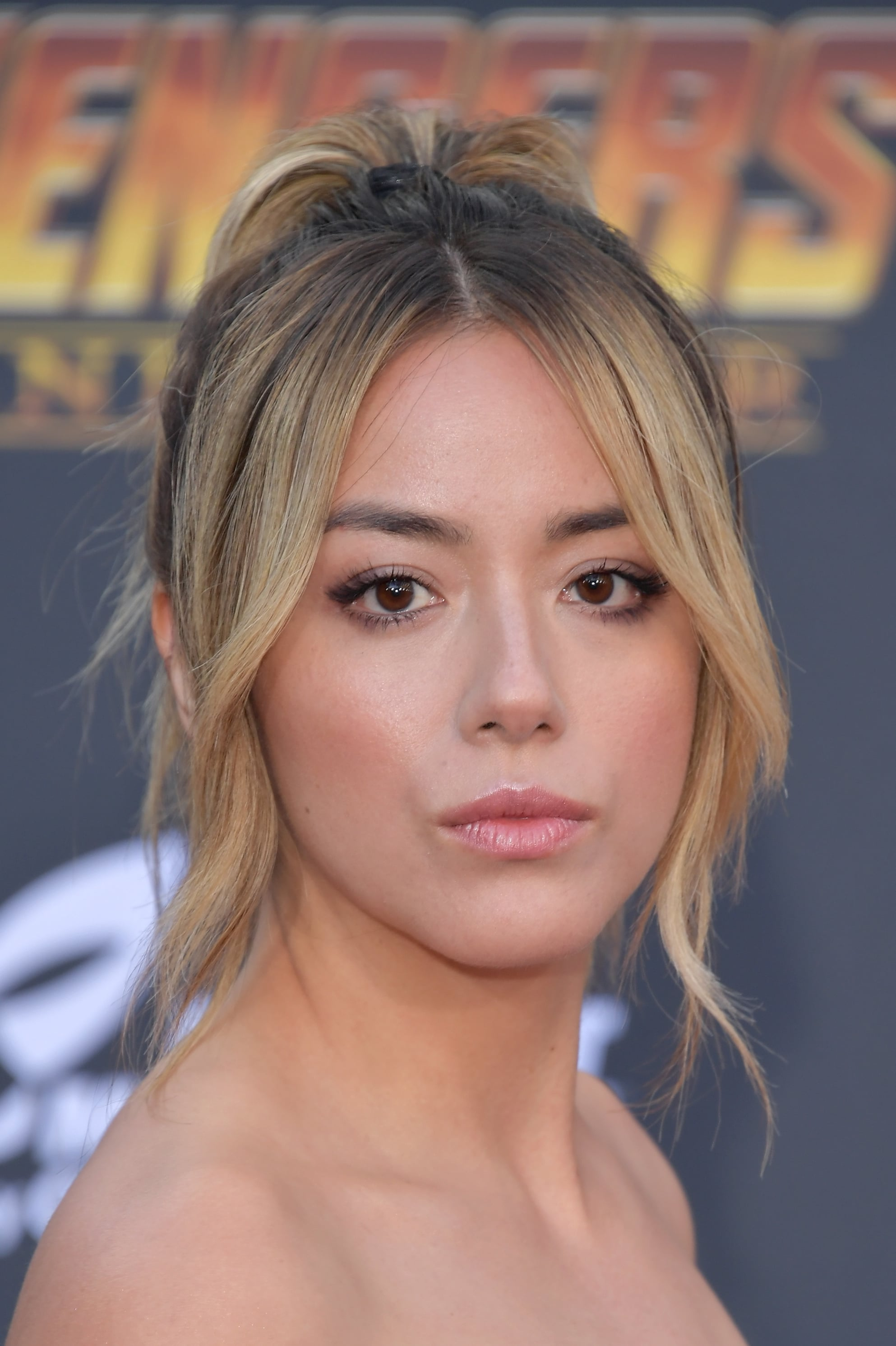 LOS ANGELES, CA - APRIL 23:  Chloe Bennet attends the premiere of Disney and Marvel's 'Avengers: Infinity War' on April 23, 2018 in Los Angeles, California.  (Photo by Neilson Barnard/Getty Images)