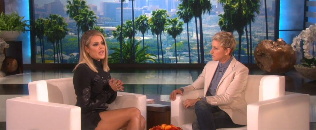 Khloe Kardashian Talks Lamar Odom on Ellen November 2015