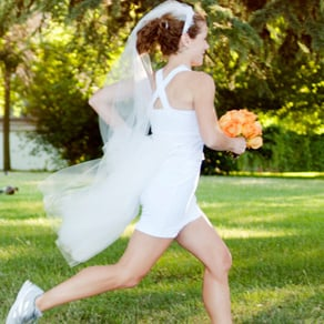 Oiselle Runaway Bride Wedding Dress For Runners