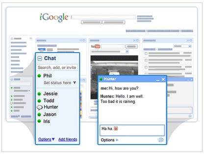 Use Chat Right Inside iGoogle