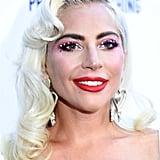 Lady Gaga With Platinum Hair