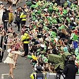 Huge crowds flocked to the St. Patrick's Day parade in Ireland.