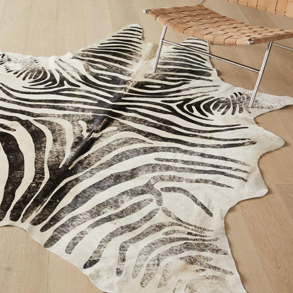 Cruella de Vil: Distressed Faux Zebra Hide Rug