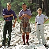 Charles, Harry, and William on the property