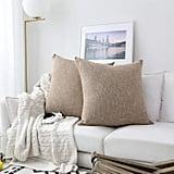 Textile Decor Burlap Lined Linen Throw Pillow Cases