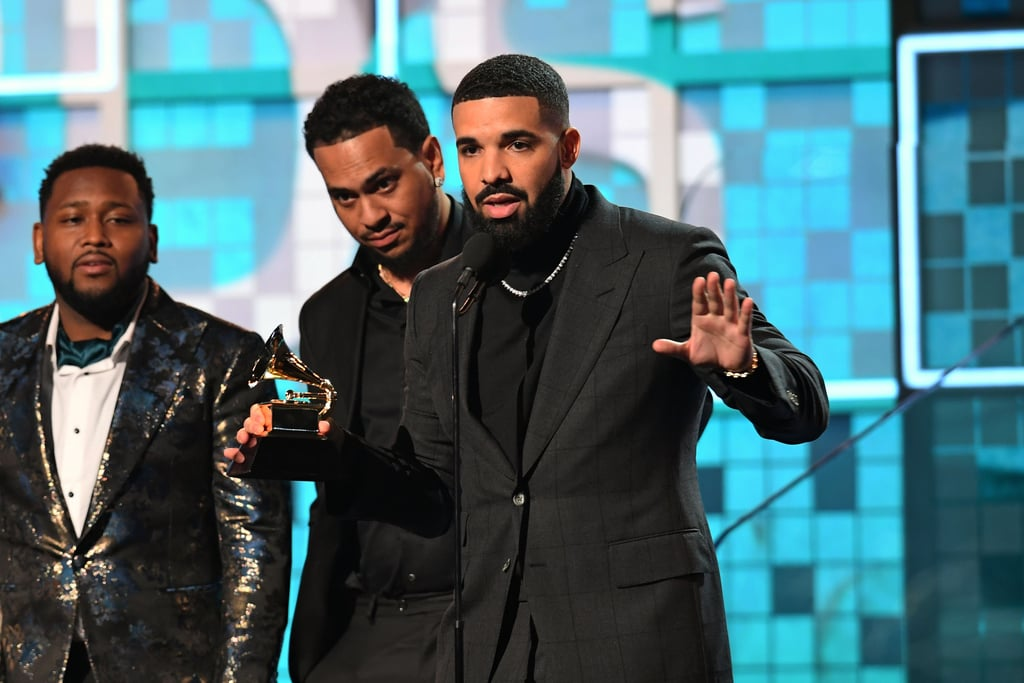 Photos of Drake Accepting His Award at the Grammys