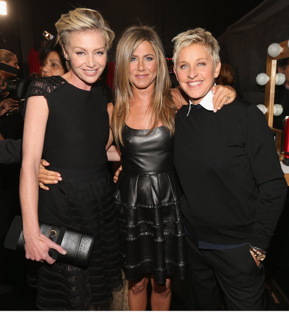 At the People's Choice Awards, Jennifer Aniston posed with Ellen DeGeneres and Portia De Rossi.