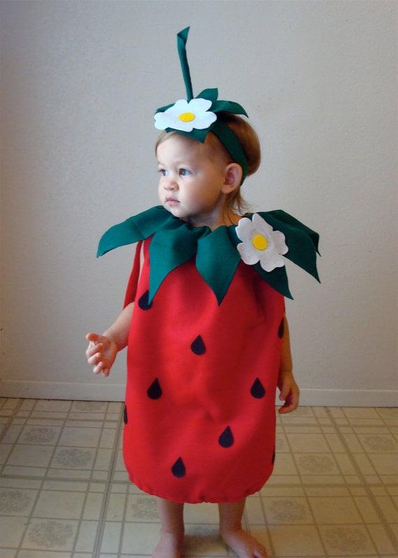 Strawberry Costume | Halloween Costumes For Girls | POPSUGAR Moms ...